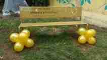 GoGold Settembre 2018 inaugurazione panchina dorata e murale Siano  SA